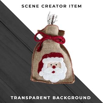 Kerst tas geïsoleerd met uitknippad.