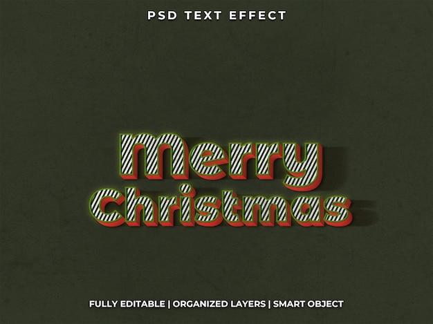 Kerst tekst effect