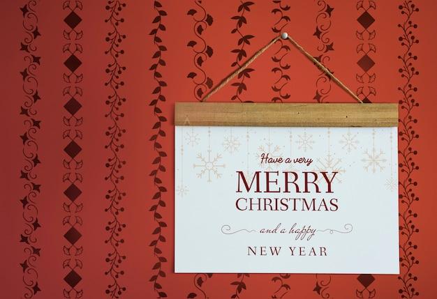 Kerst vakantie groet mockup