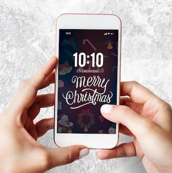 Kerst vakantie groet ontwerp mockup