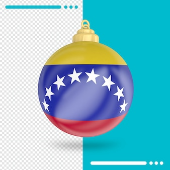 Kerst venezuela vlag 3d-rendering geïsoleerd