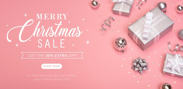 Kerst verkoop banner voorblad website.