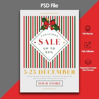 Kerst verkoop folder sjabloon