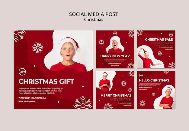 Kerst verkoop sociale media plaatsen