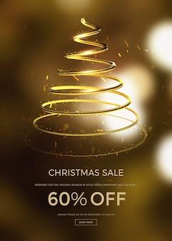 Kerst verkoop verticale banner of poster sjabloon