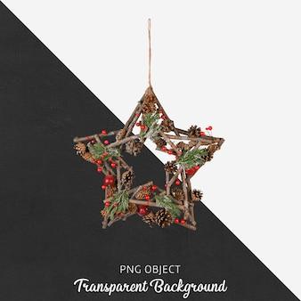 Kerst versiering op transparant
