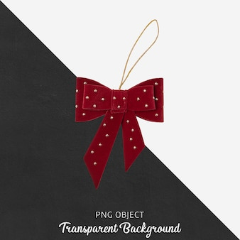 Kerst versiering op transparante achtergrond