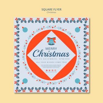 Kerst vierkante sjabloon folder