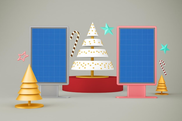 Kerstaanplakbord Premium Psd