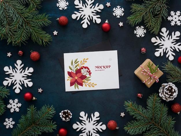 Kerstavond samenstelling met kaart
