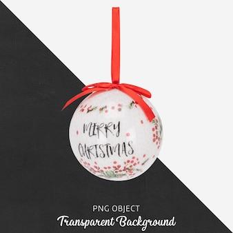 Kerstbal op transparant