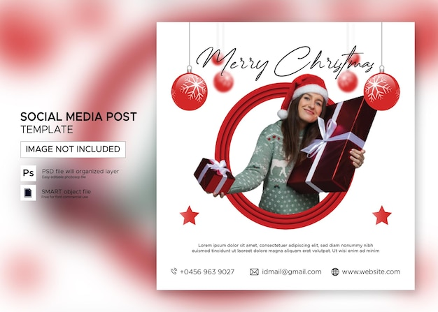 Kerstbannerverkoop instagram-bericht premium psd