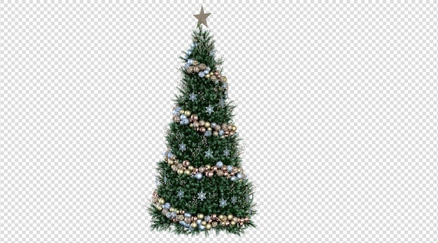 Kerstboom 3d-rendering