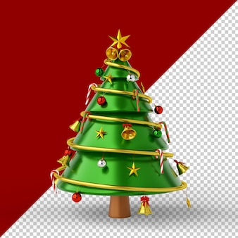 Kerstboom geïsoleerd 3d render