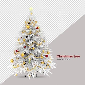 Kerstboom in 3d weergegeven