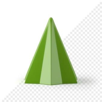 Kerstboom veelhoekig 3d-pictogram