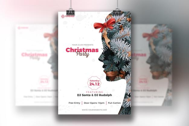 Kerstfeest flyer template