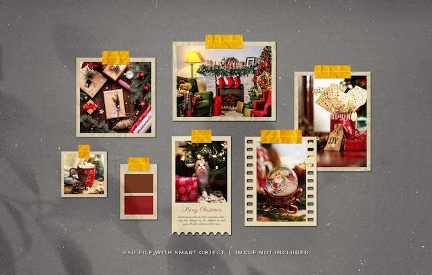 Kerstgroet fotopapier frames moodboard mockup