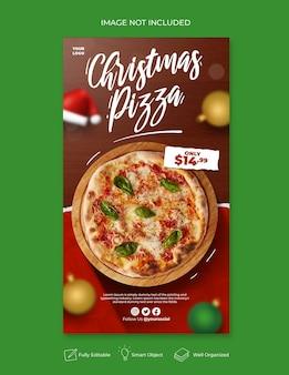 Kerstmenu sociale media en instagram postsjabloon