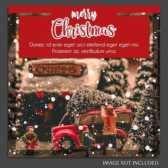 Kerstmis en gelukkig nieuwjaar 2019 fotomodel en instagram postmalplaatje