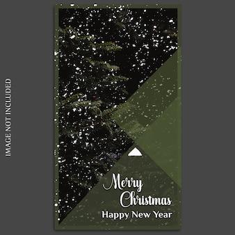 Kerstmis en gelukkig nieuwjaar 2019 fotomodel en instagram verhaalsjabloon voor
