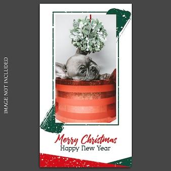 Kerstmis en gelukkig nieuwjaar 2019 fotomodel en instagramverhaal