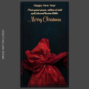 Kerstmis en gelukkig nieuwjaar 2019 photo mockup en instagram story template