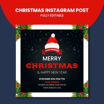 Kerstmis instagram post creatief