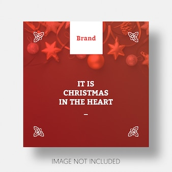 Kerstmis sociale media bericht sjabloon instagram