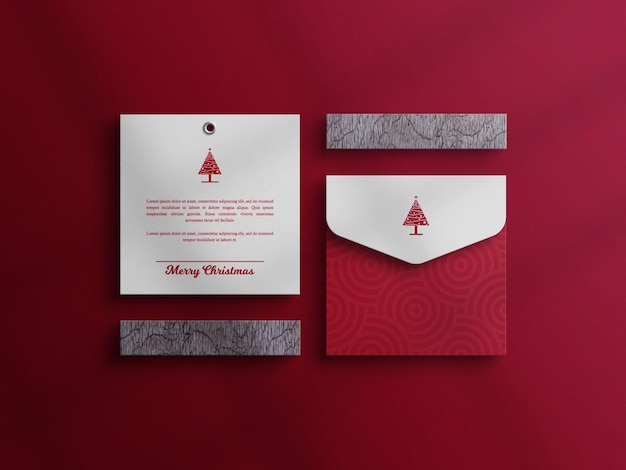Kerstuitnodigingskaart met envelopmodel