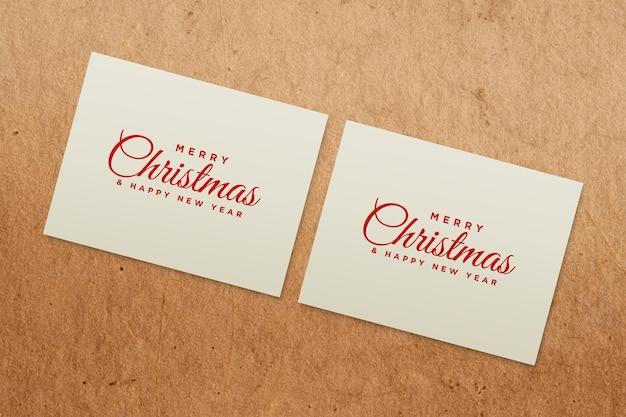 Kerstvakantie wenskaart ontwerp mockup psd