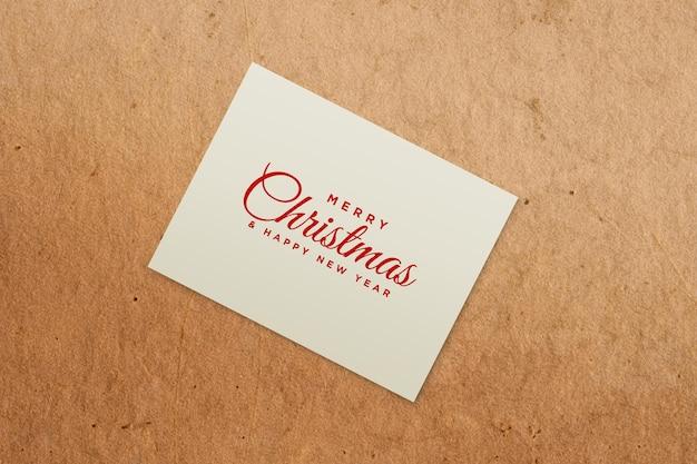 Kerstvakantie wenskaart ontwerp mockup