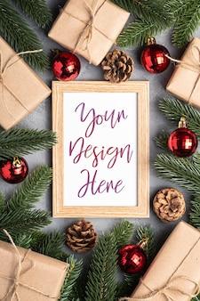 Kerstvakantiesamenstelling met omlijsting