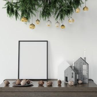 Kerstversiering op de tafel