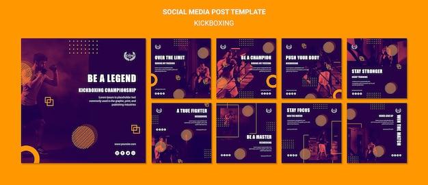 Kickboxing sobre el concepto de límite publicación en redes sociales