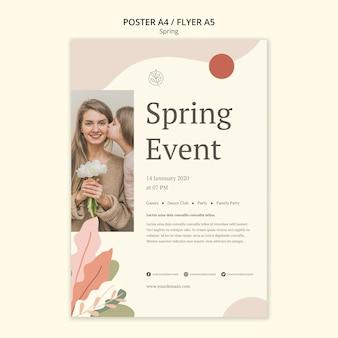 Kind kuste haar moeder lente festival poster