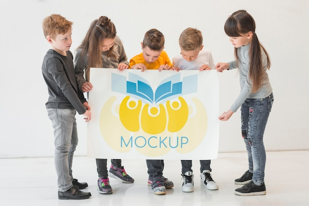 Kinderen gemeenschap concept mock-up