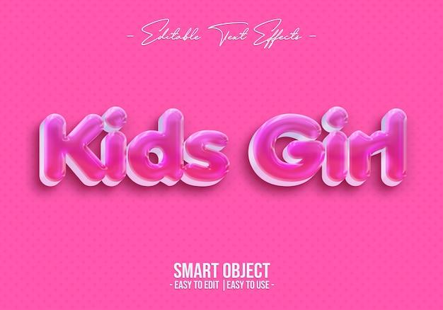 Kinderen meisje tekststijl effect