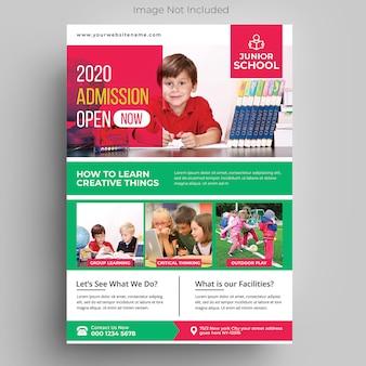 Kinderen onderwijs sjabloon folder