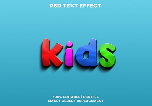 Kinderen teksteffect
