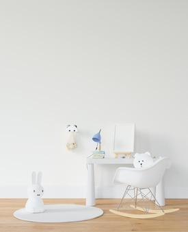 Kinderkamer met bureau en speelgoed