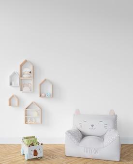 Kinderkamer met fauteuil en speelgoed