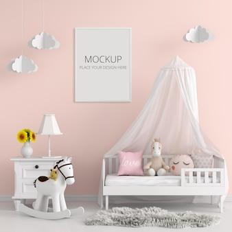 Kinderkamer met frame mockup