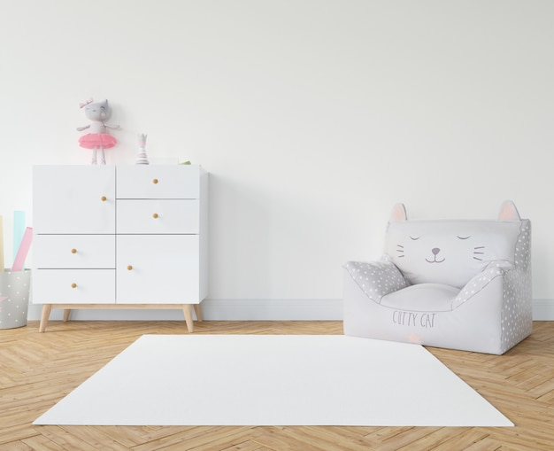 Kinderkamer met wit tapijt