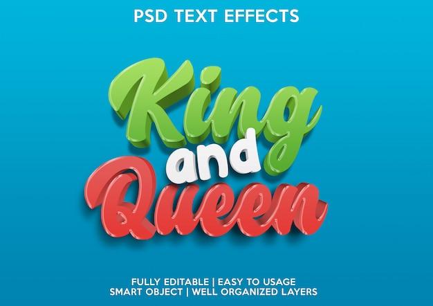King teksteffect