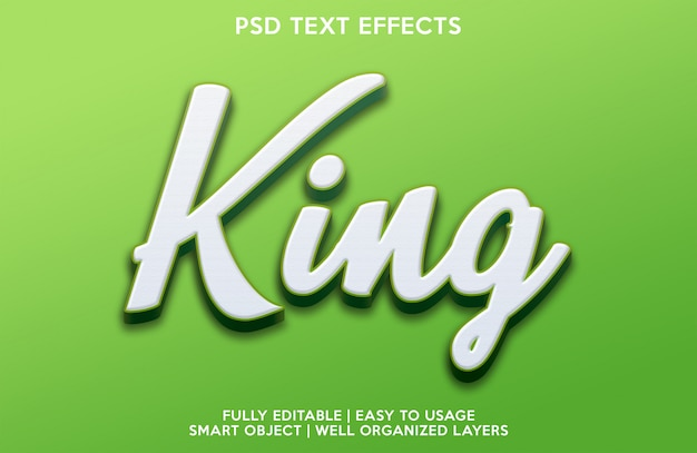 King text-effect