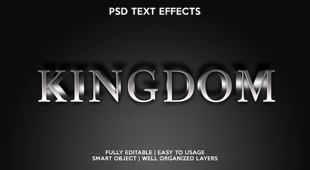 Kingdom text effect-sjabloon