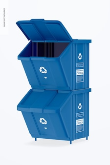 Kit de contenedor con maqueta de tapa, apilado