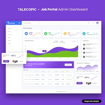 Kit de interfaz de usuario de panel de administración de job portal