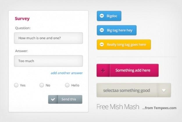 Kit mezcla sencilla con elementos web